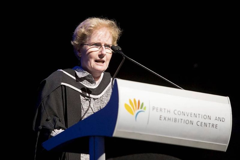 Female academic speaking at perth exhibiton and convention center